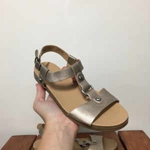 Naturalizer N5 Comfort Gold Strappy Sandals